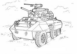 Small Picture M8 Greyhound light armored car Coloring page For Drake