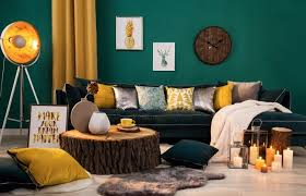 green wall in the living room these