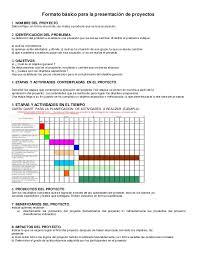Formato Basico Formato Basico De Presentacion Proyecto