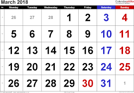 editable calendar march 2018 calendar march 2018 uk bank holidays excel pdf word templates