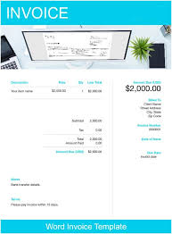 Microsoft Invoice Templates Word Invoice Template Free Download Send In Minutes