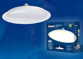 <b>LED</b>-<b>U220</b>-<b>40W</b>/<b>3000K</b>/<b>E27</b>/<b>FR PLU01WH Лампа</b> светодиодная ...