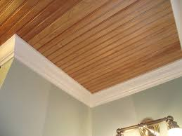 Plywood Plank Ceiling Beadboard Ceiling Planks In Bathrooms Ceilings Ceiling And