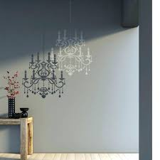 wall stencil decals crystal chandelier template for decor better than free templates wall stencil