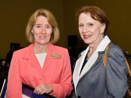 Phoebe Rouse with Vice Chancellor and Provost Astrid Merget | LSU Math