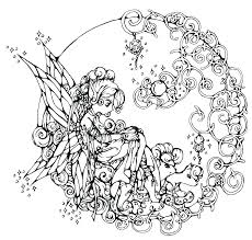 Fairy Colouring Pages For Adults Christmas Worksheet Printables