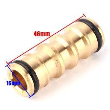 garden hose repair. Garden Hose Repair Length Copper Nipple Straight Connector Water Quick Plants Irrigation .