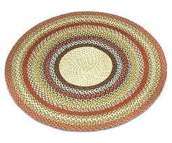 braided rugs for round honey vanilla ginger rug 4 foot cotton canada round braided rug