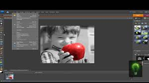 Small Picture Tutorial Black WhiteColor Effect in Adobe Photoshop Elements