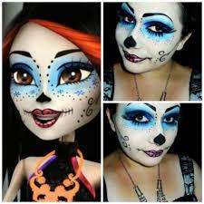 monster high skelita calaveras face makeup
