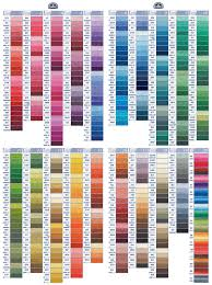 Dmc Color Chart 2018 Printable Organizing Embroidery Thread By Color Families The Bean