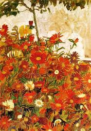 "Field of Flowers"" by Egon Schiele 