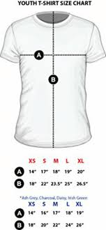Youth T Shirt Size Chart B Xs S M L Xl A 14 17 18 19 20 B 18