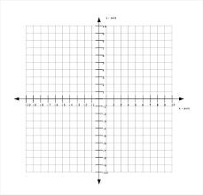 Coordinate Grid Template 2 Graph Paper Plane Quadrant 1