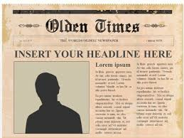 Old Time Newspaper Template Word Olden Day Newspaper Template Magdalene Project Org