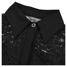 Womens Vintage 1950s Style 3 4 Sleeve Black Lace Flare A