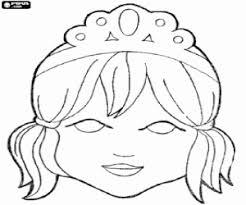 Kleurplaat Masker Van Een Prinses Met Tiara Kleurplaten