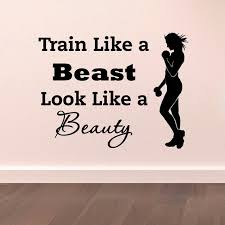 gym sports wall decal quotes train like a beast vinyl stickers gym fitness motivation wall on motivational quotes for athletes wall art with gym sports wall decal quotes train like a beast vinyl stickers gym