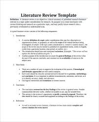 Example Of A Literature Review Essay Literary Review Template Under Fontanacountryinn Com