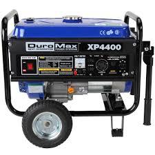 duromax watt gasoline powered manual start portable duromax 4 400 watt gasoline powered manual start portable generator wheel kit xp4400 the home depot
