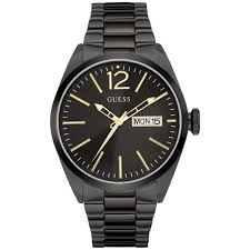 guess men s black gold watch buy now from an official uk stockist guess men s black gold watch