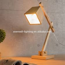 Antique Wooden Desk Lamp Handmade Solid Wooden Reading Table Lamps