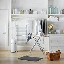 Laundry Room Drying Rack With Drawers And Laminate Flooring And Hanger Racks