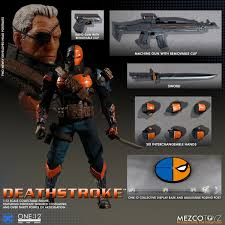Slade Wilson—AKA Deathstroke—joins Mezco Toyz's One:12 Collective line of  hyper-articulated action figures … | Deathstroke, Dc comics action figures,  Action figures