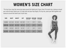 Bust Size Chart Women Womens Compression Legging