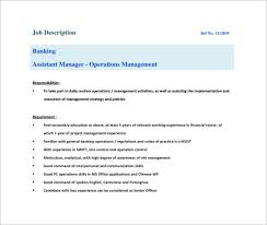 Bank Manager Job Description 12 Assistant Manager Job Description Templates Free