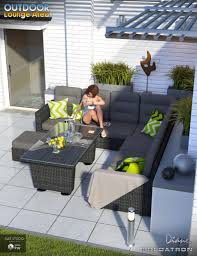 Outdoor Lounge Outdoor Lounge Area 3d Models And 3d Software By Daz 3d
