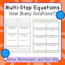 equations variables on both sides how many solutions notes and worksheet equation solvingsolving