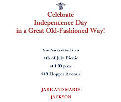 4th of july party invitations wording 4
