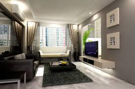 interior: Enchanting Black Accents Sofa Set In Bright Apartment Living Room Interior  Design Idea Completed