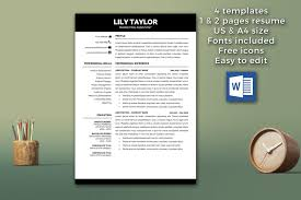 Modern Resumes Resume Page Lily Taylor Beautiful Templates For