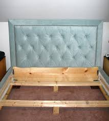 diy tufted headboard hedbord smlr ths frme upholstered and footboard using pegboard images