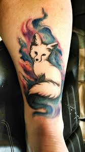 Watercolor Fox Tattoo Foxtattoo Watercolortattoo Colortattoo