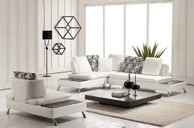 living room furniture arrangement with sectional sofa. enhancting white small leather sectional sofa for modern living room ideas with decorative iron wall hanging and geometric printed throw pillows furniture arrangement