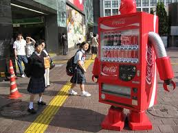 Robot Vending Machine Delectable CocaCola Vending Robots Spotted In Japan Geekologie