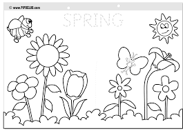 Small Picture Spring Coloring Pages 2016 Dr Odd Spring Color Sheets In New
