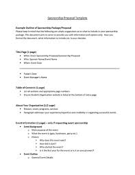 Sponsorship Proposal Template Inspiration Free Sponsorship Proposal Template Pcccus