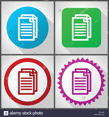 Google Flat Design Icons Vector Icons With 4 Options Document Flat Design Icon Set
