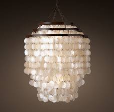 capiz shell lighting fixtures. RH\u0027s Capiz Chandelier With Three Tiers Of Translucent White Shells, This Emits A Warm, Iridescent Glow. Shell Lighting Fixtures T