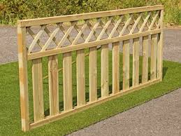 solid timber decking and garden fence panels