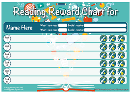Reading Sticker Chart Reading Reward Chart 7 To 13 Years