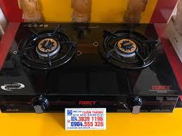Bếp Gas - Bếp Từ Hà Nội - Bếp ga đôi dương mặt kính Fancy FC-680 Mặt kính  cường lực chịu nhiệt Bảo hành 1 năm