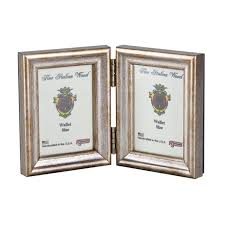 f g galassi silver 2 5x3 5 hinged double ready made wood frame style 13823v2 frame