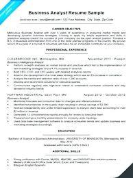 Entry Level Data Analyst Resume Stunning Sample Business Analyst Resume Entry Level Entry Level Data Analyst