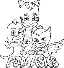 Pj Masks Vehicles Coloring Pages