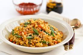 Asian rice with hot paste